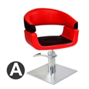 红色 欧式 皮革 平体 方盘 A款 Bb_053 剪发椅-芭本-