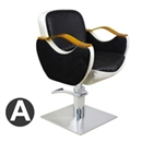 黑+黄+白  皮革 平底 方盘 A款 Bb_126 剪发椅-芭本-