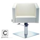 立方系列 米色  方盘 单臂踏杆 C款 011103 剪发椅 -GESINO-